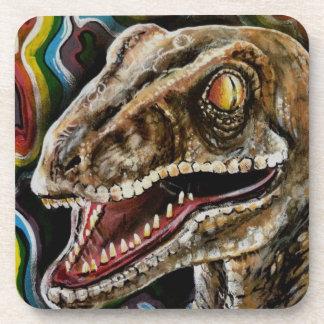 Colorful Rainbow Velociraptor Raptor Coasters