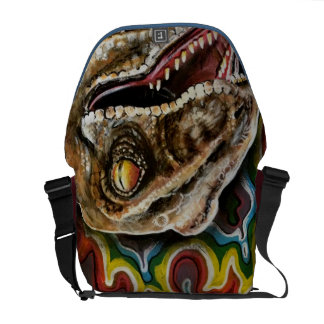 Colorful Rainbow Velociraptor Raptor Dinosaur Bag