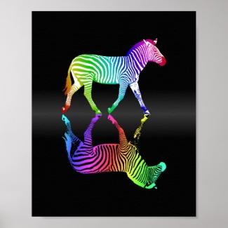 Colorful Rainbow Zebra Inversion