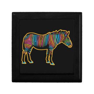 Colorful Rainbow Zebra Jewelry Box