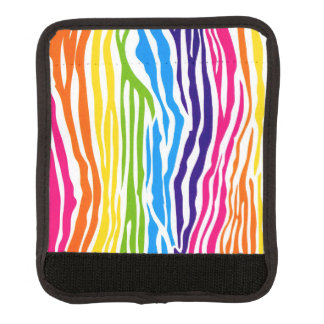 Colorful Rainbow Zebra Pattern Luggage Handle Wrap