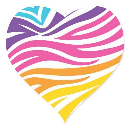 Colorful animal print hearts - photo#5