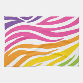 Colorful Rainbow Zebra Print Pattern Gifts Towels