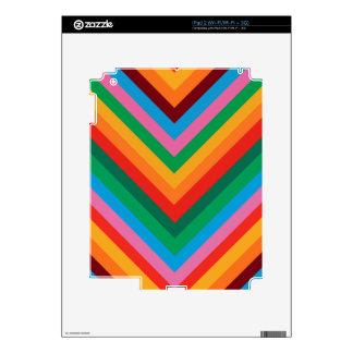 Colorful Rainbow Zig Zag Chevron Skin For The iPad 2