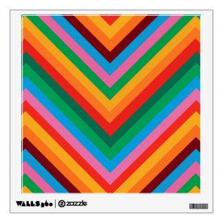 Colorful Rainbow Zig Zag Chevron Wall Sticker