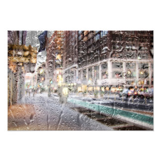 Colorful Rainy Day NYC Abstract Photo Print