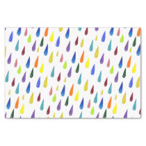 Colorful Rainy Day Pattern Tissue Paper
