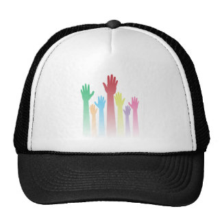 Colorful Raised Hands Trucker Hat