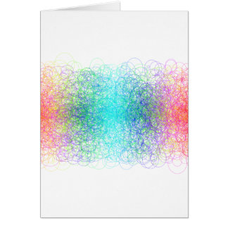 Colorful random lines and shapes card