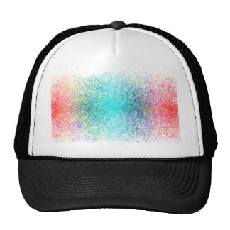 Colorful random lines and shapes trucker hat