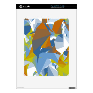 Colorful Random Shape Design Decal For The iPad