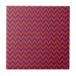 Colorful Raspberry Herringbone Pattern Ceramic Tile