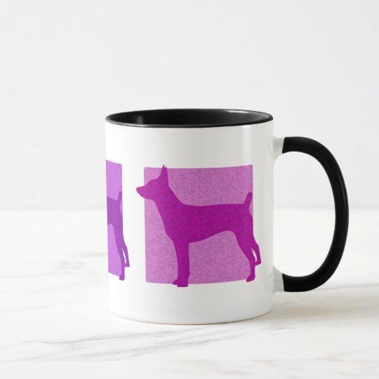 Colorful Rat Terrier Silhouettes Mug
