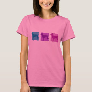 Colorful Rat Terrier Silhouettes T-Shirt