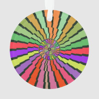 Colorful rays abstract design ornament
