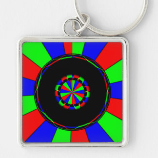 Colorful rays keychains