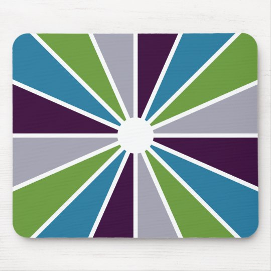 Colorful Rays mousepad, customizable Mouse Pad