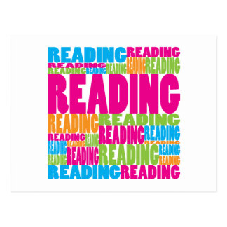 Colorful Reading Postcard