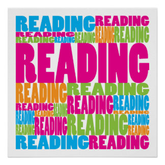 Colorful Reading Poster