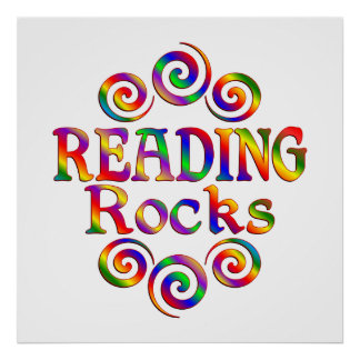 Colorful Reading Rocks Poster