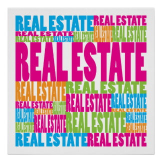 Colorful Real Estate Poster