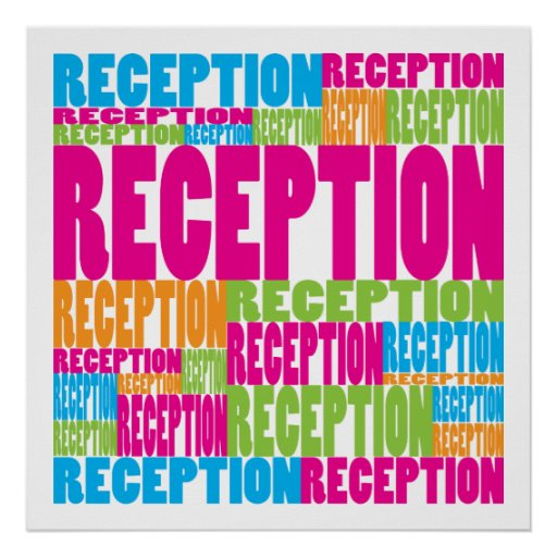 Colorful Reception Poster