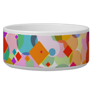 Colorful Rectangle and Dot Pattern Bowl