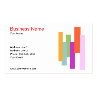 Colorful Rectangles Business Card Template