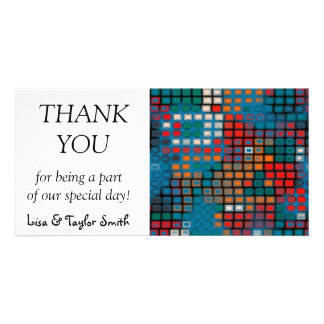 Colorful rectangles pattern card
