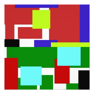 colorful rectangles photo print