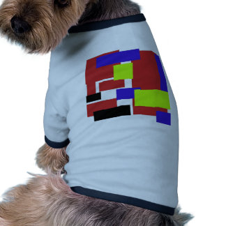 colorful rectangles red pet shirt