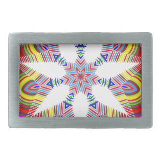 colorful rectangular belt buckle
