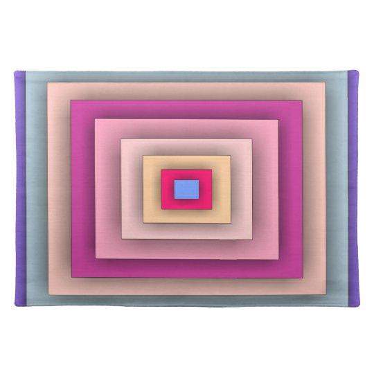 Colorful Rectangular Panels American Mojo Placemat