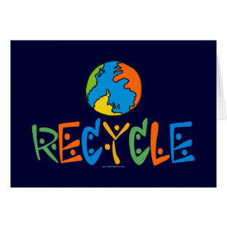 Colorful Recycling Greeting Card