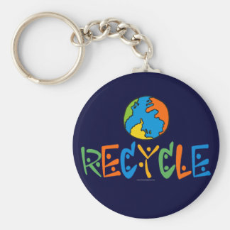 Colorful Recycling Keychain