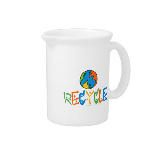 Colorful Recycling Pitchers