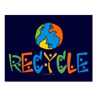Colorful Recycling Postcard