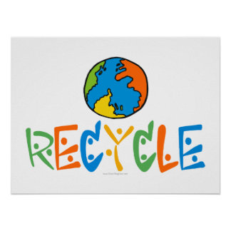 Colorful Recycling Poster