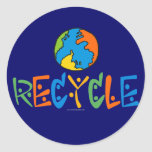 Colorful Recycling Round Stickers