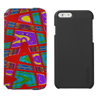 Colorful red abstract artwork iPhone 6/6s wallet case
