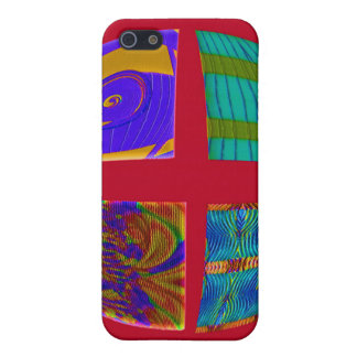 colorful red abstract case for iPhone 5