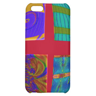 colorful red abstract iPhone 5C covers