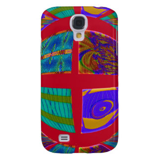 colorful red abstract samsung galaxy s4 covers