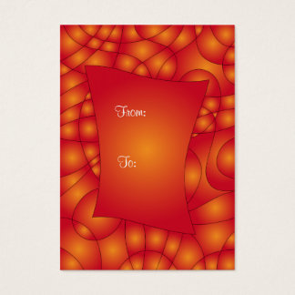 Colorful red and orange gift tag