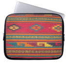 Colorful Red Aztec Pattern Computer Sleeve