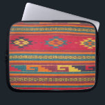 "Colorful Red Aztec Pattern Computer Sleeve<br><div class=""desc"">A colorful red aztec  pattern a trendy and unique design pattern  The perfect gift for every occasion</div>"