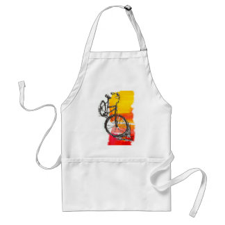 Colorful Red Bike Adult Apron