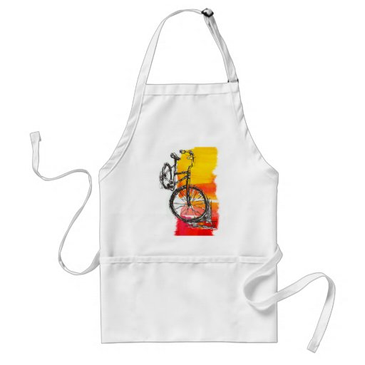 Colorful Red Bike Apron