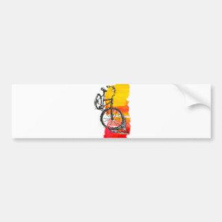 Colorful Red Bike Bumper Sticker
