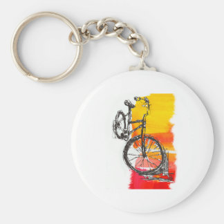Colorful Red Bike Keychain